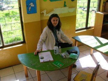 Molly at the Health Center, Quito, Equador