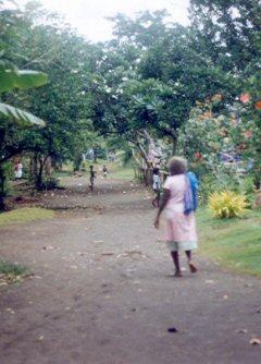 Main street Ughele, Rendova, Solomon Islands