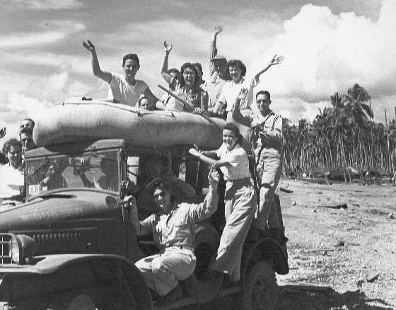 World War 2 GIs and nurses, Solomon Islands