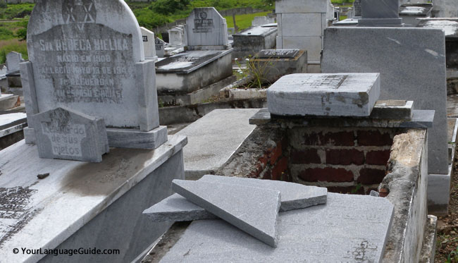 Cuban cemetaries suffered