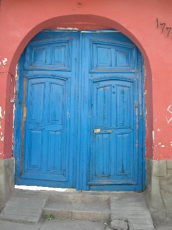 Blue door - Welcome to our Host Family