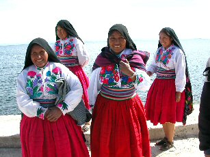 Traditional Dancers at Lake Titicaca, Peru