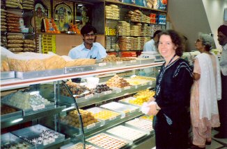 Inside an Indian Sweet shop