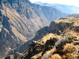 Peru adventure vacation - view of Colca Canyon