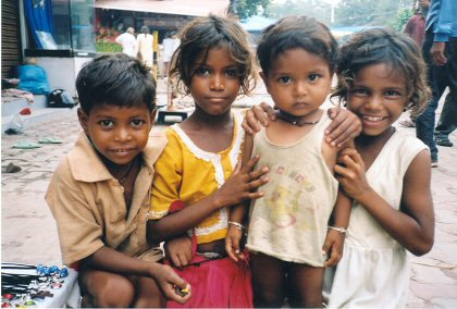 Indian beggar children