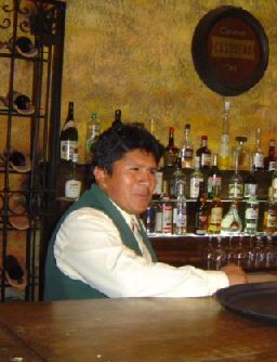 Bartender in Cusco, Peru