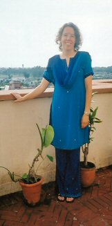 Wearing my Salwar Kameez