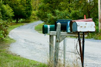 Country mailboxes American style