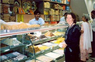 Inside an Indian Sweet shop