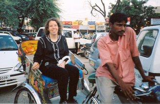 Riding a Cycle Rickshaw