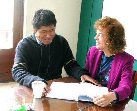 Juan helps Ann drill her dialog