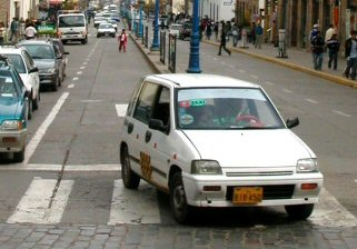 Learn Spanish in Peru while riding in a taxi