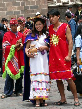 Costumed Parade Couple