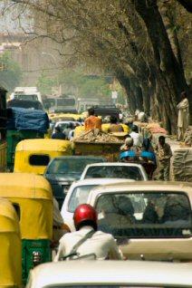 Bumper to bumper driving in India