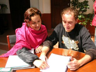 Learning with a Spanish tutor